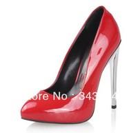 Free Shipping Cheap Wholesale 2013 Women Sexy High Heel Shoes Metal Heel Elegant Dresses Brand GZ Pumps 7 Colors Size 35-42