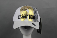 HOT SALE U2 360 TOUR ANNIVERSARY LIMITED BRAND NEW DESIGN BASBALL CAP/HAT COTTON WITH PU BRIM FREE SHIPPING
