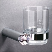 Fashion quality novalee hardware bathroom modern high quality crystal toothbrush cup holder bh001