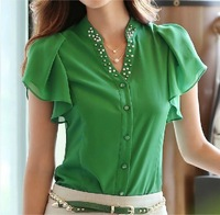 new 2014 leisure women clothing women blouses chiffon T shirt blouses & shirts chiffon blouse blusas femininas OL office shirt