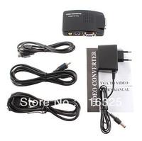 New AV S-Video RCA Composite Video to PC Laptop VGA TV Converter adapter box  Free Shipping
