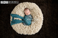 4cm long Hair Beige Velvet Plush Faux Fur Clothes Baby Photography Background Cloth Blanket 100cm x 150cm
