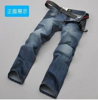2014 free shopping new winter fashion men's jeans trousers straight casual design size 28-38 60