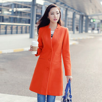 2013 women's fashion elegant single breasted slim medium-long long-sleeve wool coat outerwear
