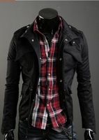 Free Shipping 2014 new  Autumn Korean men's jacket collar Slim Men's Jacket Men's casual jacket