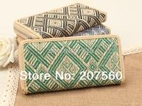 Wholesale: characteristics of straw weaving zipper women purse, wallets, standard wallet, card bags + free shipping