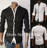 Free shipping! New men's Casual Luxury Stylish Slim Long Sleeve Shirts 3 sizes free shipping