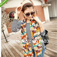 Hot Sale New Fashion Women Lady South Park Cartoon Chiffon Scarf Shawl Wrap