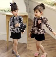 2014 New Baby Girl High Quality Korea Style Plaid Formal lady Dress, Princess Elegant Dress, 5 Pieces/lot,#FSXZ