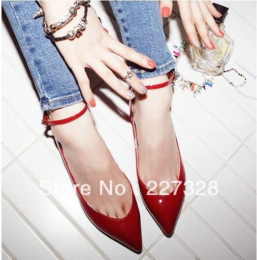 A 2013 europeus apontou sapatos documentários planas cores doces sapatos único sapatos uma colher sapatos(China (Mainland))
