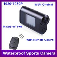 New Full HD 1080P Sports HD DV Camer with Waterproof Case Wireless Remote Control 12.0 Mega CMOS Sensor 50m Waterproof (SJ3000)