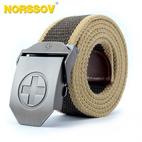 2014 New Automatic cross buckle canvas belt male strap men casual designer wide branded canvas jeans  hip belts
