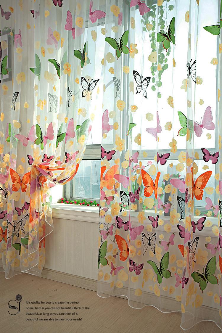 rústico romántico de la cortina de la ventana de detección de personalizar los productos terminados balcón nueva llegada