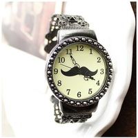 New 2014 Hot  Womens Fashion Movement Quartz bracelet dress Wrist Watches, Retro hollow out arabesquitic beard watch