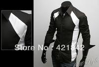 New men's Casual Luxury Stylish Slim Long Sleeve Shirts 3 sizes free shipping CS03
