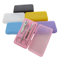 1set Stainless Steel Manicure Set Nail Care Tools Nail Clipper Scissors Eyebrow Tweezers Travel KIt NT-1201