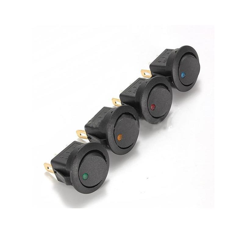 1PCS Free Shipping 16A 12V LED Dot Light ON/OFF Toggle SPST Switch Round Rocker For Car Boat FZ1986(China (Mainland))