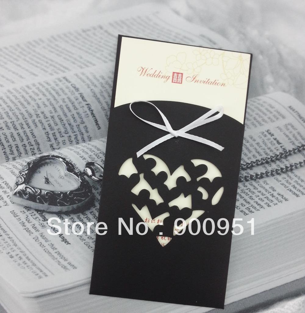Ribbon Wedding Invitation with nice invitation layout
