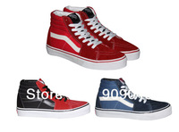 Classic Old Skool Leather Canvas Shoes for Women High Sneakers for Men Breathable Sports Skateboard Shoes