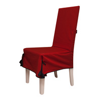 2014  professional customize 100% cotton chair cover all-inclusive dining chair set one piece chair cover red chair cover