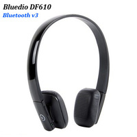 Bluedio DF610 Bluetooth stereo wireless headset sports headphone with mic Black Leather