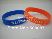 NUT ALLERGY Medical ID Alert Bracelet, Silicon Wristband, 5Colour, Youth Size,100pcs/Lot, Free Shipping