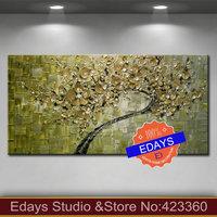 Hot Selling ! Original  Large  Olive  Floral  Impasto  Paintings on canvas Textured Modern Palette Knife Art
