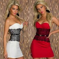 Free Shipping New 2014 Spring Fashion Party Mini Dress Women Bandage Bodycon Dresses Lace Sexy Club wear A3451