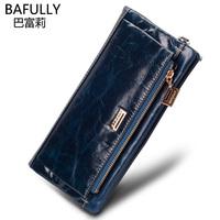 women  wallets genuine leather brand   Luxury vintage       long designer          purse female wallet  clutch handbag wallet