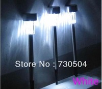 100Pcs White LED Stainless Steel Solar lighting Solar Light Outdoor Garden Lawn Decoration Lamp Free fedex shipping wholesales