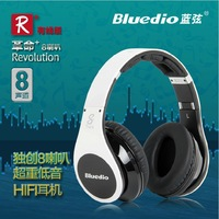 Bluedio headset  R-WH  8-channel headset, 2+6 hifi Audio speaker units DJ monitor headphones