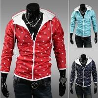 Free Shipping 2014 Waterproof sunscreen anti UV Men windbreaker jacket coat men slim fast drying