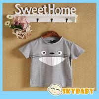 Brand New Baby Boy Girl Totoro Pattern T-shirt 100% Cotton O-neck Soft T-shirt Baby Girl Top Style Sport Cartoon T-shirt Kids