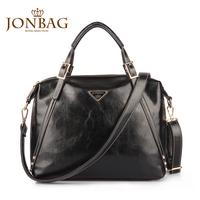 Motorcycle bag 2014 spring new arrival women's handbag brief fashion trend of the handbag black bags big bag