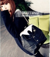Free Shipping! 2013 medal clothes student uniform women's handbag suit bag chain handbag