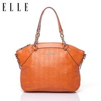 New arrival elle genuine leather bag cowhide 30803 13 knitted one shoulder cross-body handbag women's handbag