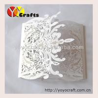 Wholesale - 100Sets Laser Cut Wedding invitations Cards+100 Inner paper+100 Envelopes+100 Seals