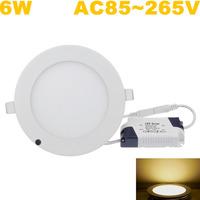 2014 Wholesale ! Downlights Warm White Ceiling Lighting Indoor,2700-3200k SMD2835 6W Led Panel Light 10pcs/lot ,Fedex Free!