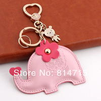 Wholesale Female car key keychain Elephant Cute Key Ring