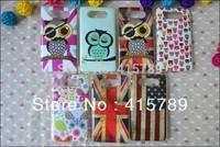 Clear side cartoon night owl Polka Dot UK USA flag flower Printed Soft TPU cell phone case for Nokia 820 Lumia N820 820