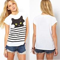 блузка рубашка женщин мода мультфильм жираф печати блузка бренда шифон blusas femininas sb2119
