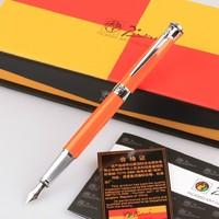 Picasso 903 Sweden Flower King Fountain Pen(Orange) Free shipping Gift Box