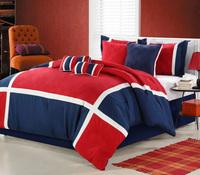 Hot sale red wedding bedding set king size printed 4pcs duvet cover new arrival bed set comforter set queen size