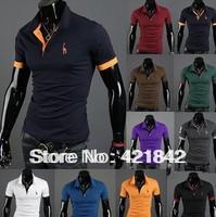 Big horse ! 2014 Summer Fashion Men t Shirt Casual camisetas masculinas blusas Men's t-shirts Tops & Tees