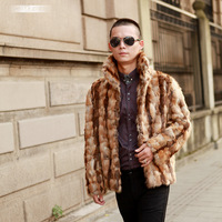 2014 male mink fur coat male men's clothing fight mink outerwear