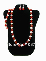 Free Shipping  Fashion Natural Agate&Freshwater Beads Necklack&Bracelet&Earring Jewelry Set Top Quality  HC481