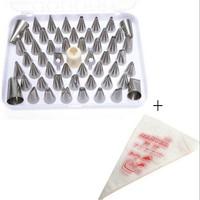52Pcs Icing Piping Nozzle Bag +100 icing bagCake Decorating Sugarcraft Pastry Tips Tool Set