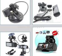 Free Shipping Original X3000 New Dual Lens CAR DVR Camera 720p 140 Degree with GPS Logger HDMI