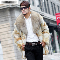 2014 ' men's clothing fur overcoat medium-long male fur coat fur male
