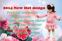 2014 New Little butterfly girls dress/ Girl suit: white round nots coat+ pink skirt/ Autumn Winter design